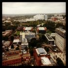 miniatura University of Birmingham - Viewed from the University of Birmingham 'old Joe' clock tower this westerly facing image shows the new Queen Elizabeth hospital